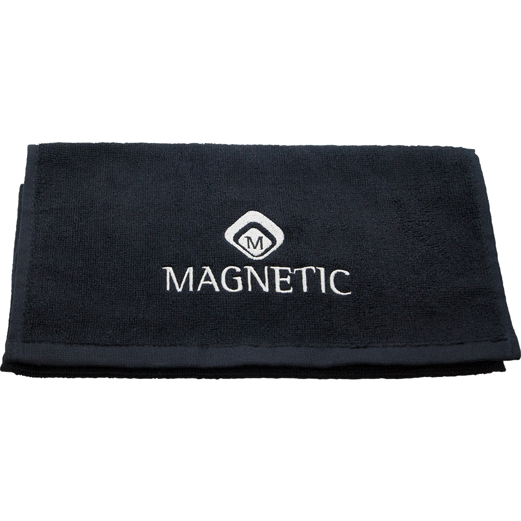 Magnetic Towel 30 x 50 cm Black