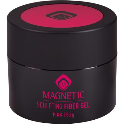 Magnetic Sculpting Fiber Gel Pink 50g
