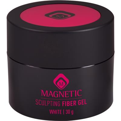 Magnetic Sculpting Fiber Gel White 30g