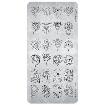 Stamping Plate 18 Happy Floral