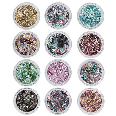Crushed Metal Flakes 12 Colors